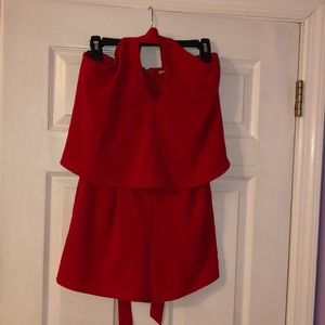 Red Romper from Charlotte Russe